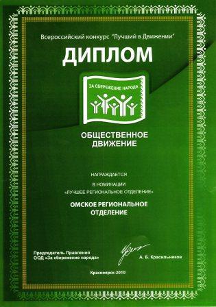 за сбережение народа омск