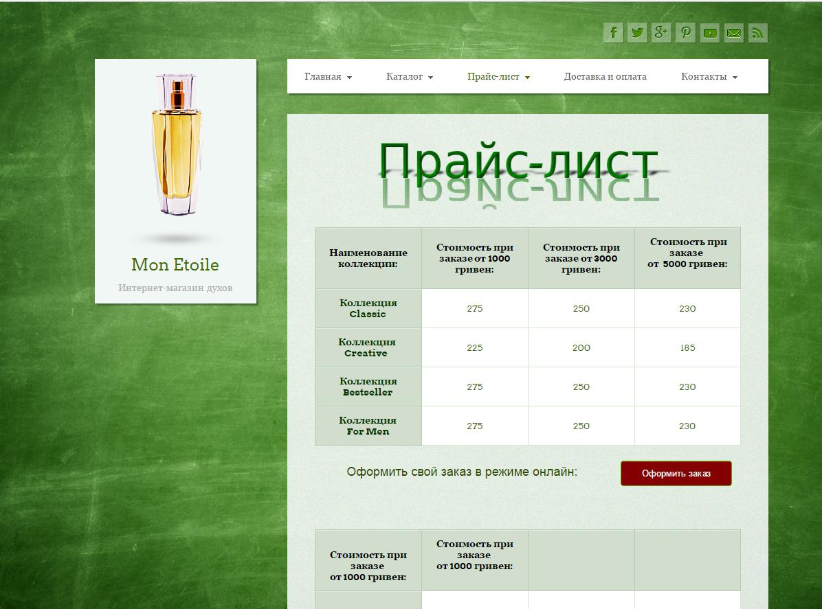 Сайт- одностраничник Монэтуаль в Украине. Цена флакона 600 руб.!